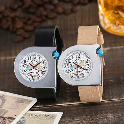 Fashion Womens PU Leather Casual Watch Luxury Analog Quartz Cartoon Wristwatch