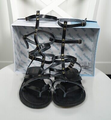 162e24d36294 Free People Faryl Robin Vegan LINCY Size 8 Mid Gladiator Sandal Black worn  once
