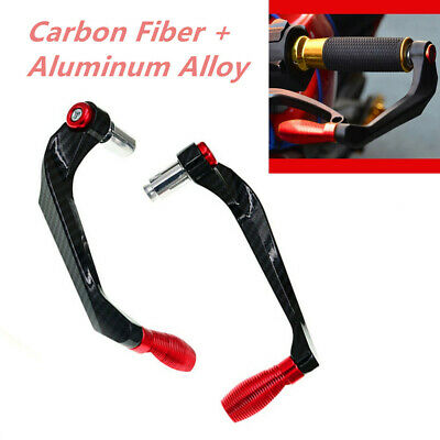 Pair of Carbon Fiber Aluminum Universal Motorcycle Brake Clutch Lever Protection
