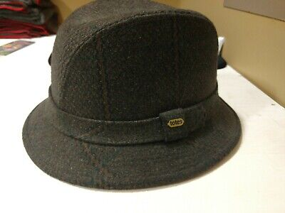 593602e5a7d Vintage Totes Tweed Walking Hat Wool Blend Fedora Rain Resistant Men s Large
