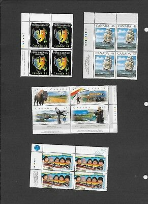 Canada 13 different blocks from 1999 plus Sc. 1812, MNH VF