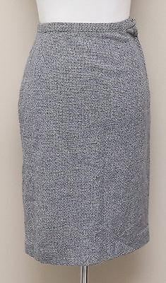 6a3fa9ab60 Vintage 1960-70s Womens Size 0-2 Navy/Grey Wool Tweed Pencil Skirt