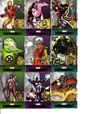 Marvel Beginnings Series 2 2012 Upper Deck Near Base Set Of 177 Trading Cards