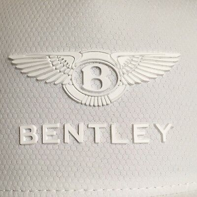 Bentley Collection 2019 Technical Cap Hat In White W/double Winged B & Script!