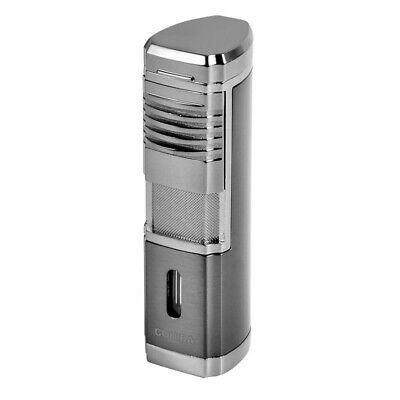 COHIBA Black Metal Cigar Lighter Windproof 4 Torch Jet Flame