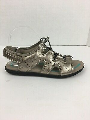 f9e7206f0a2cd ECCO WOMENS BLUMA Toggle Sandals 39 EUR 8 US Silver Metallic Gladiator  Comfort