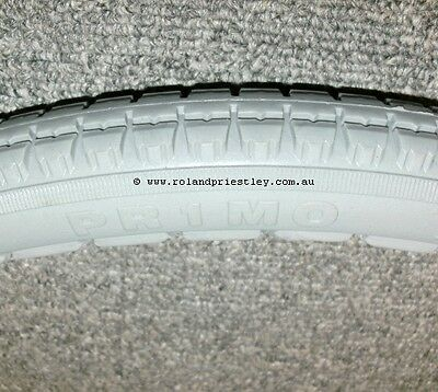 Pair of Pr1mo Wheelchair Tyre Solid Polyurethane Grey 24 x 1-3/8