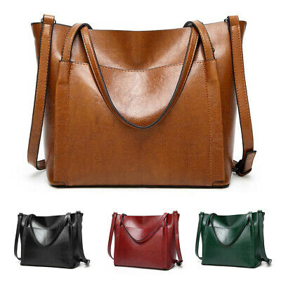 Women Genuine Leather Large Handbag Shoulder Girl Travel Bag Messenger Crossbody