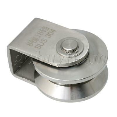 Large Size 7.3x9.6x5.4cm Sliding Roller V Type Rail Fixed Pulley