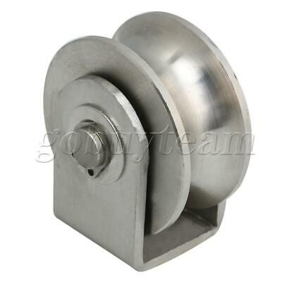 Small Size 4.8x5.35x3.6cm Sliding Roller U-Shaped Rail Fixed Pulley
