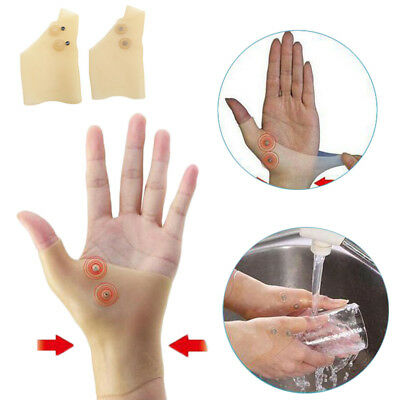 Healthcare Pain Relief Magnetic Therapy Wrist Silicone Hand Glove Support 2 PCS