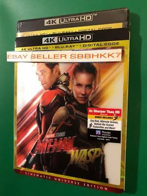 ANT-MAN AND THE WASP 4K ULTRA HD + BLU-RAY + HD &Lenticular Slipcover ALL REGION
