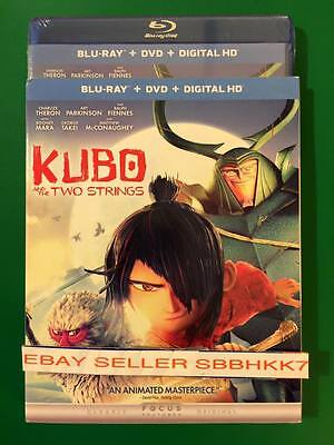 Kubo and the Two Strings (Blu-ray DVD & HD) & Slipcover Brand New Free Shipping