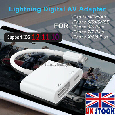 Lightning to HDMI Digital Cable Adapter For iPad iPhone X 6 8Pin iPhone to TV AV