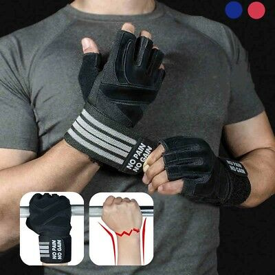 Men Women Weight Lifting Gloves Body Building Training GYM Exercise Workout AU