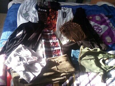huge bundle womens clothes sizes 8/10 boohoo pretty little thing misguided etc