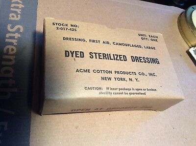 New US Military Issue Genuine WW2 ACME no2-017-425 LargeDyed Sterilized Dressing