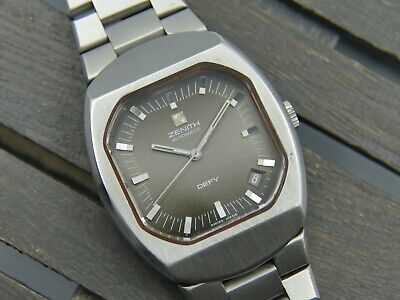 vintage watch mens rare ZENITH DEFY AUTOMATIC 01-0020-880 cal. 2572 PC grey dial