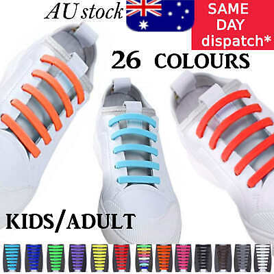 Easy Lazy No Tie Elastic Silicone Shoe Laces Cool Shoelaces Unisex Kids & Adults