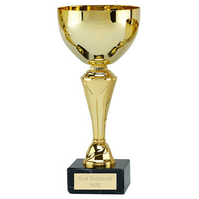 'Inferno' Gold Cup Trophy Value Bargain Award *Free Personalised Label* 4 SIZES