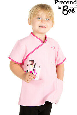 Girls Kids Beauticians / Hairdressers Tunic Top Fancy Dress Costume Age 3-5-7