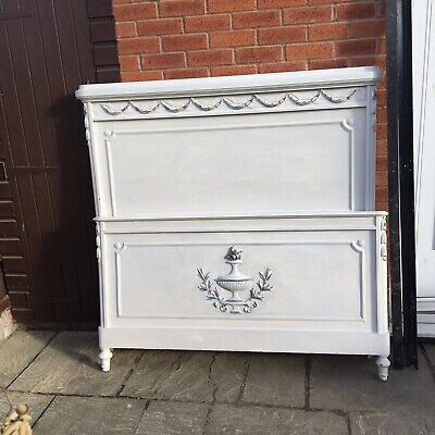 antique French Shabby Chic Double Bed Frame