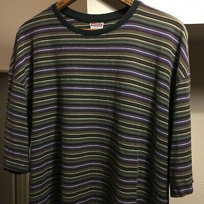 5ecd22435 VINTAGE 90 s UNIONBAY OG Striped T Shirt XL Guess SS Hang Ten Stripes Rare  Vtg