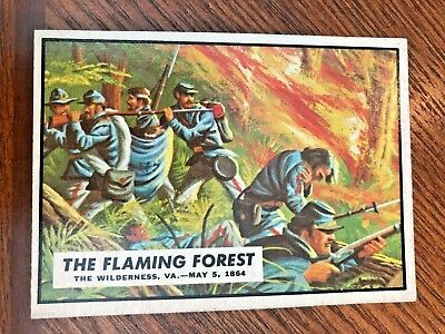1962 Topps Civil War News #81 The Flaming Forest       ##2