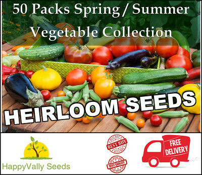 Mixed Seeds Spring Summer Heirloom Vegetable Seeds Bulk Value Garden 50 Packs