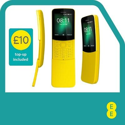 Nokia 8110 Mobile Phone on EE - Includes £10 Top Up