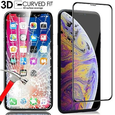 For Apple iPhone X XS Max XR 7 8 Plus 6 6S 3D Tempered Glass Screen Protector