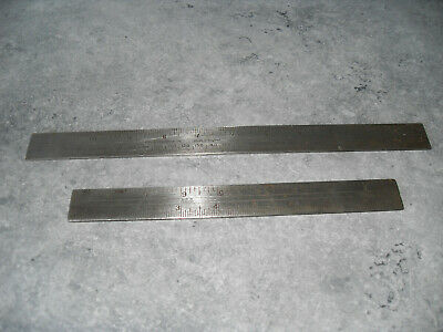 "Rabone X 2 Sliding Rules 12""-300.mm--9""-Inches Only"