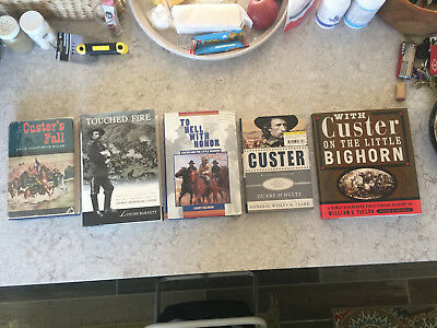 CUSTER CLUSTER #2 5 Rare Book Lot: Custers Fall Touched by Fire To Hell with etc