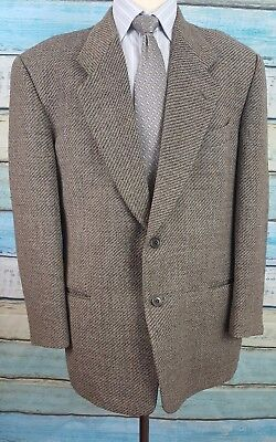 MANI 42R Pure Wool Brown Single Breasted 2 Button Mens  Blazer