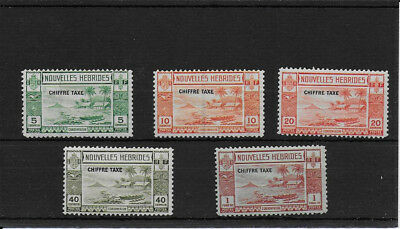 FRENCH  NEW HEBRIDES 1938 Postage Dues SGFD65/9 mint