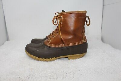 LL Bean Boots Gore Tex Lined Black Leather Men's Size 11