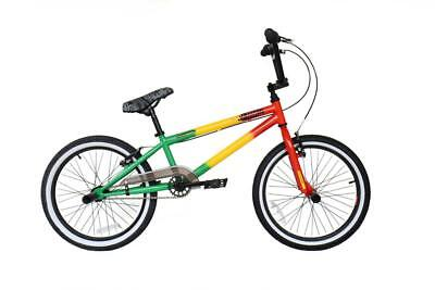 "2019 Rooster Jammin Rasta Kids 20"" Wheel 25/9T Gearing Freestyle BMX Bike RS900"