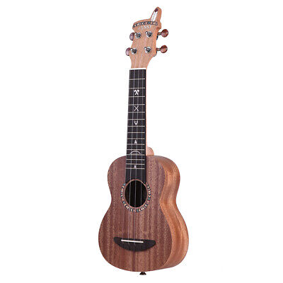 "21"" Soprano Ukulele Ukelele Mahogany Wood with Bag Strings Strap Tuner T9J4"