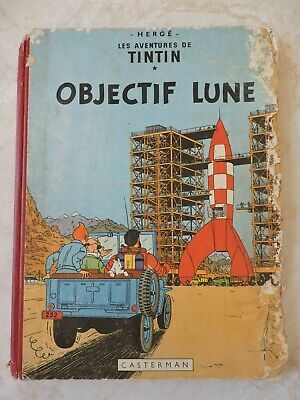 20371ec0130 COLLECTION TINTIN HERGE Tintin Objectif Lune 1953 - EUR 2