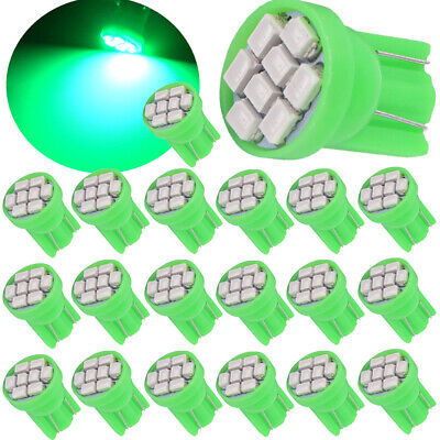 10X Green T10 8SMD LED Interior Instrument Panel Dash Light bulbs 2825 168 194