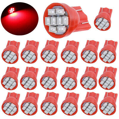 10X T10 158 2825 168 194 Red 8SMD LED Interior Instrument Panel Dash Light bulbs