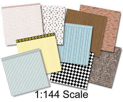 1:144 Scale Dollhouse - Wee Little Wallpapers 2, Dollhouse or Dutch Baby Scale