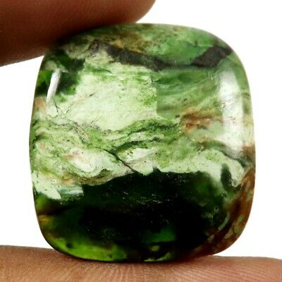 Opalised Serpentine Natural Cabochon Cushion Loose Gemstone 32.25cts GQ55