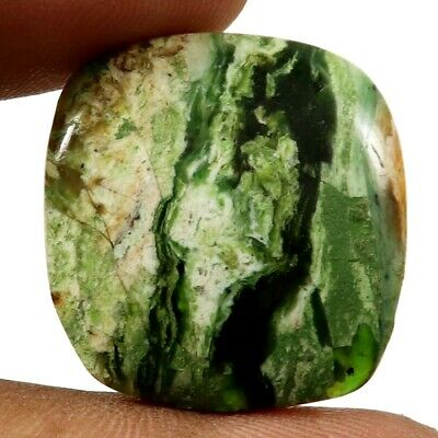 Opalised Serpentine Natural Cabochon Cushion Loose Gemstone 23.35cts GQ60