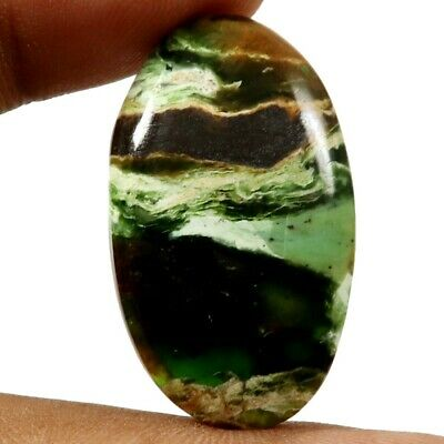 Opalised Serpentine Natural Cabochon Oval Loose Gemstone 27.45cts GQ52