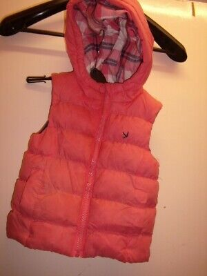 Girl's Hooded Puffer Gilet Size 2-3 years Young Dimension Peach / Pink colour