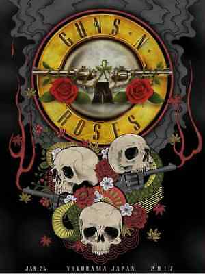 GUNS N ROSES : JAPAN , YOKOHAMA .. (quality print )