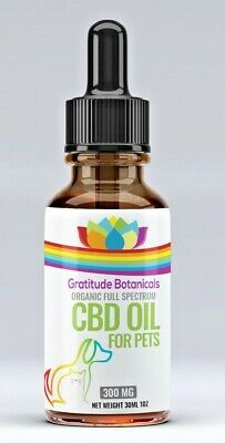 Organic Hemp Oil for Dogs, Cats & Pets- Arthritis and Pain Relief Anxiety 300MG