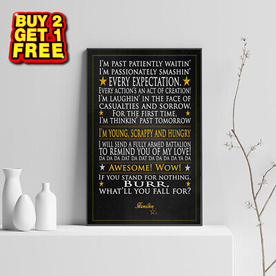 Hamilton Musical, Famous Quotes, Art, Print, Posters, Word Art, Typography,