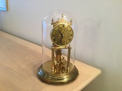 A 400 Day Anniversary Clock +Glass Dome By Kieninger & Obergfell Marked Kundo